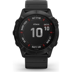 Garmin fenix 6X Pro Men's Black Silicone Strap Smart Watch found on Bargain Bro UK from H Samuel