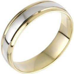 9ct Two Tone Gold Men's Ring found on MODAPINS from H Samuel for USD $499.73