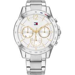 Tommy Hilfiger Ladies' White Chronograph Bracelet Watch found on Bargain Bro UK from Ernest Jones UK