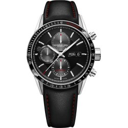 Raymond Weil Freelancer Men's Black Leather Strap Watch