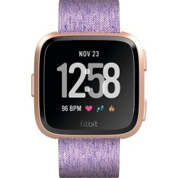 Fitbit Versa Special Edition Lavender/Rose Gold Smart Watch found on Bargain Bro from H Samuel for £176