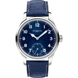 Montblanc 1858 Men's Blue Leather Strap Watch found on MODAPINS from Ernest Jones UK for USD $3716.84