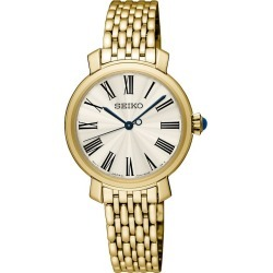 Seiko Ladies' Gold Plated Stainless Steel Bracelet Watch found on Bargain Bro UK from H Samuel