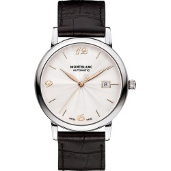 Montblanc Star Classique Men's Black Leather Strap Watch found on MODAPINS from Ernest Jones UK for USD $3583.67