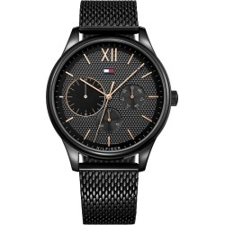 Tommy Hilfiger Men's Black IP Mesh Bracelet Watch found on Bargain Bro UK from H Samuel