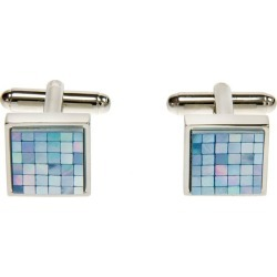Simon Carter square chequer blue mother of pearl cufflink found on Bargain Bro UK from Ernest Jones UK