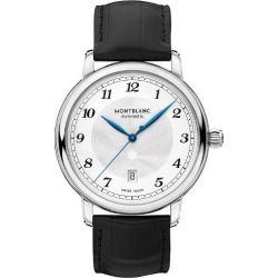 Montblanc Star Legacy Man's Black Leather Strap Watch found on MODAPINS from Ernest Jones UK for USD $3094.19