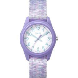 Timex Kids Time Machines Purple Nylon Strap Watch