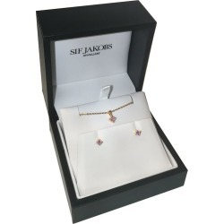 Sif Jakobs Princess Gold Plated Pink Pendant & Earrings found on Bargain Bro UK from Ernest Jones UK