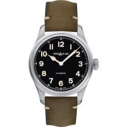 Montblanc 1858 Men's Green Leather Strap Watch found on MODAPINS from Ernest Jones UK for USD $2702.33