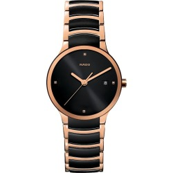 Rado Centrix Men's Black Ceramic And Rose Gold Pvd Watch - L found on MODAPINS from Ernest Jones UK for USD $1841.13