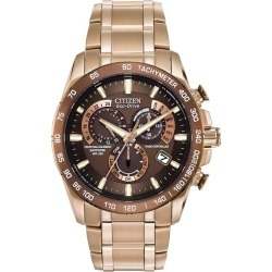 Citizen Eco-Drive Men's Perpetual A-T Bracelet Watch found on Bargain Bro UK from H Samuel