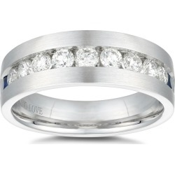 Vera Wang 18ct White Gold 0.95ct Diamond Sapphire Men's Ring found on MODAPINS from Ernest Jones UK for USD $5525.75