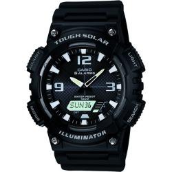 Casio Solar Men's Black Resin Strap Watch