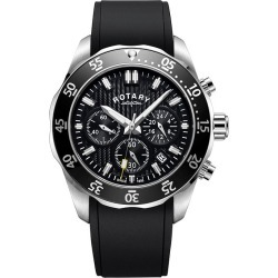 Rotary Men's Black Strap Chronograph Watch found on Bargain Bro from H Samuel for £241