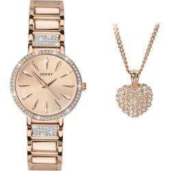 Seksy Ladies' 2-Piece Swarovski Crystal Rose Gold Plated Set found on Bargain Bro from H Samuel for £151