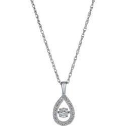 Diamonds In Rhythm Silver 15 Point Diamond Pear Drop Pendant