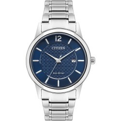 Citizen Eco-Drive Men's Stainless Steel Blue Dial Watch found on Bargain Bro UK from H Samuel