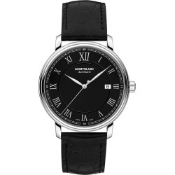 Montblanc Tradition Men's Black Leather Strap Watch found on MODAPINS from Ernest Jones UK for USD $1995.02