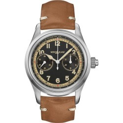 Montblanc 1858 Monopusher Chronograph Leather Strap Watch found on MODAPINS from Ernest Jones UK for USD $5443.55