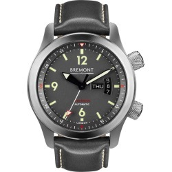 Bremont U-22 Men's Stainless Steel Leather Strap Watch found on MODAPINS from Ernest Jones UK for USD $4904.18