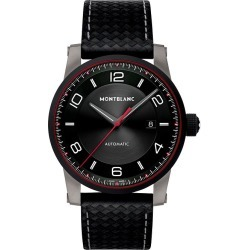 Montblanc Timewalker Men's Black Leather Strap Watch found on MODAPINS from Ernest Jones UK for USD $2391.35