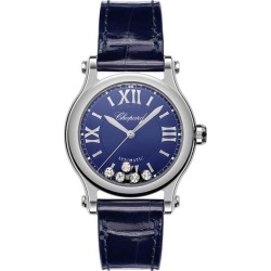 Chopard Happy Sport Ladies' Blue Leather Strap Watch found on MODAPINS from Ernest Jones UK for USD $6328.16