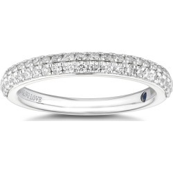 Vera Wang 18ct White Gold 0.37ct Diamond Wedding Ring found on MODAPINS from Ernest Jones UK for USD $2467.69