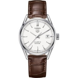 TAG Heuer Carrera 5 Men's Brown Leather Strap Watch found on MODAPINS from Ernest Jones UK for USD $2569.17