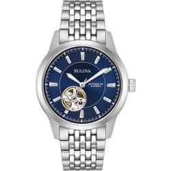 Bulova Men's Classic Automatic Skeleton Dial Bracelet Watch found on Bargain Bro from H Samuel for £176