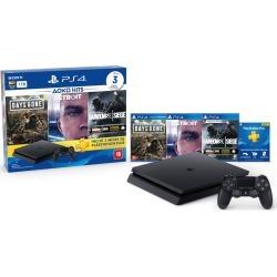 Console Sony PlayStation 4 Slim 1TB Hits Bundle 5 com Voucher PS Plus + 1 Dualshock 4