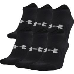 Under Armour Unisex Training Cotton No Show Socks - 6 Pack Black L
