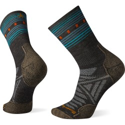 Smartwool PhD Outdoor Light Pattern Crew Socks - Color: Charcoal - Size: M