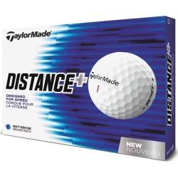 TaylorMade TM Distance + Golf Balls 1-Dozen White