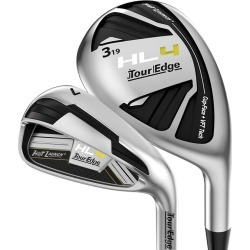 Tour Edge Golf- Hot Launch 4 Combo Irons #4,#5 Hybrids, 6-AW Stiff Flex Graphite