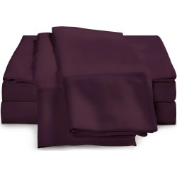 650 Thread Count Egyptian Cotton Sheets Queen Plum