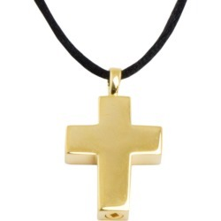 Gold Cross Cremation Urn Pendant, Jewelry Yellow, Urns for Ashes
