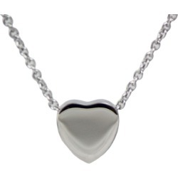 Stainless Steel Heart Cremation Pendant, Jewelry Gray