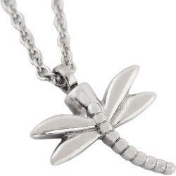 Dragonfly Cremation Pendant - Stainless Steel, Jewelry Gray