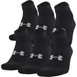 Under Armour Unisex Training Cotton Low Cut Socks - 6 Pack Black M