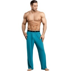 Male Power Bamboo Lounge Pant Teal Small