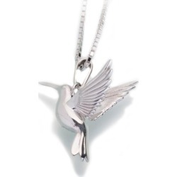 Silver Hummingbird Cremation Pendant, Jewelry Gray