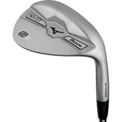 "Pre-Owned Mizuno Golf S5 White Satin Wedge 56* 14* Bounce Wedge Sand Wedge [True Temper Dynamic Gold Steel] +0.5"" *Value"