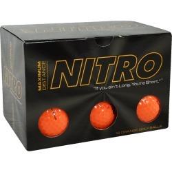 Nitro Max Distance Golf Balls Orange