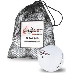 Bullet .444 Distance Golf Balls *12-Ball* White