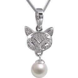Precious Cat Cremation Pendant, Pearl, Jewelry Green