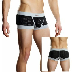 Male Power Athletic Mesh Sport Mini Short Black XL