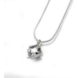 Silver Clover Cremation Pendant, Jewelry Gray