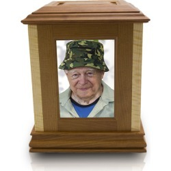Funeral Home Rental Wooden Cremation Photo Urn, Urns for Ashes found on Bargain Bro Philippines from OneWorld Memorials for $319.95