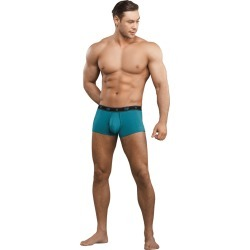 Male Power Bamboo Pouch Enhancer Mini Short Teal Extra Large (XL)